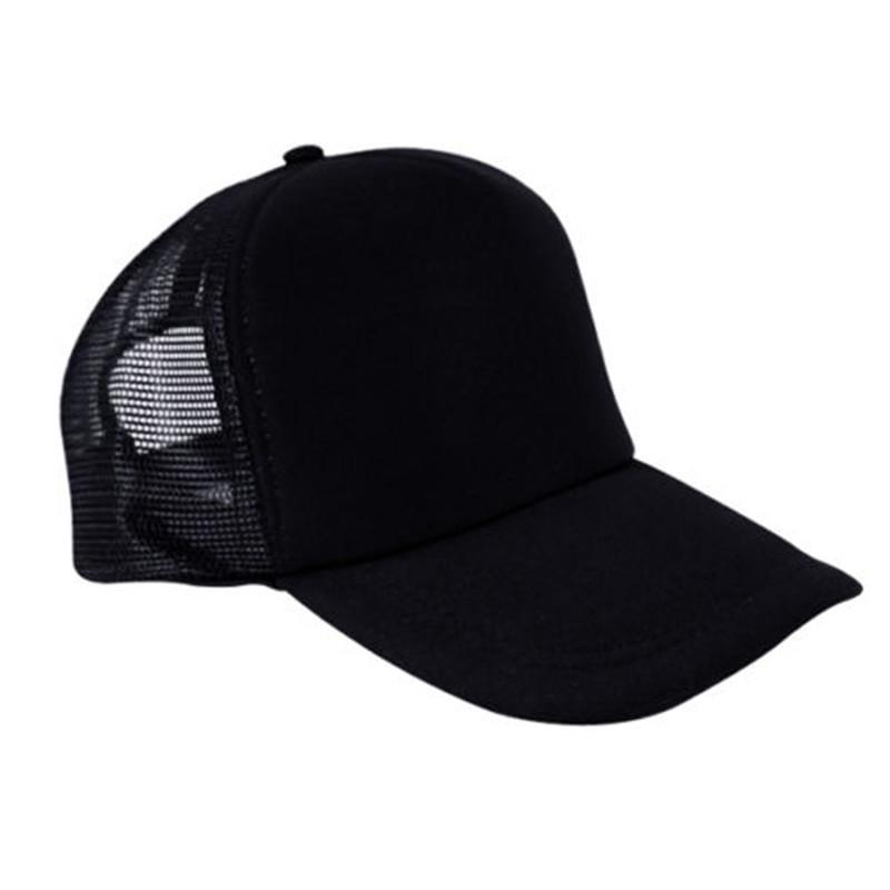 Unisex DIY Printed Half Mesh Baseball Trucker Rapper Cap Hat Summer Caps