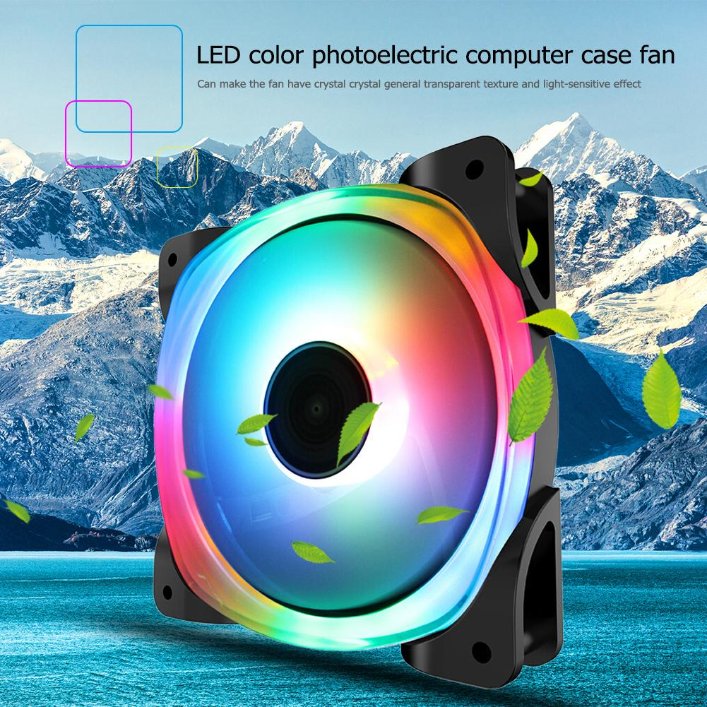 Jonsbo FR-701 34 RGB LED Light Computer Cooling Fan PC Case Chassis Heatsink Fan