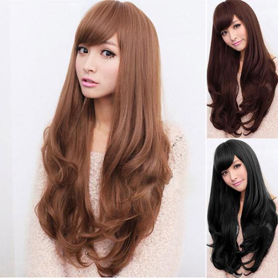 2f1da70cd22 Women Lolita Curly Wavy Long Full Wig Artificial Hair Heat Resistant ...