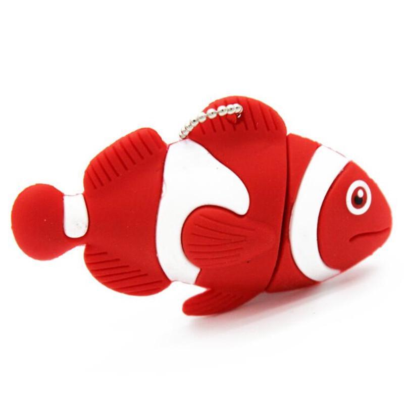 16GB Pendrive Novelty Cute Shark Fish Animal USB Flash Drive Memory Stick Gift