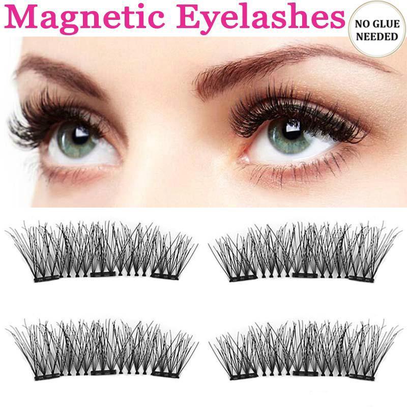 f4639d12c68 Fashion Three Magnetic Eyelashes Makeup Fake Eye Lashes Extension 4Pcs/Set  Cross Black Lashes-buy at a low prices on Joom e-commerce platform