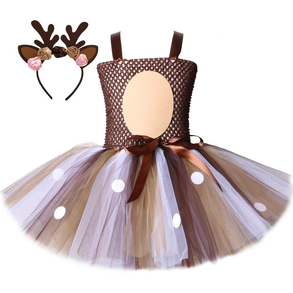 NNJXD Girls Unicorn Halloween Christmas Cosplay Dress Up Birthday Party Fancy Princess Rainbow Dresses