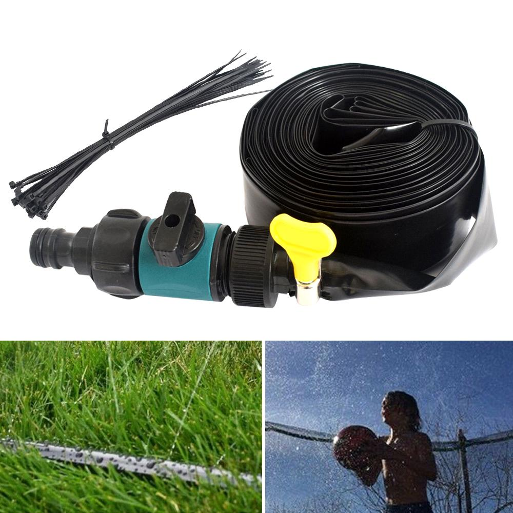 TDZD Trampoline Sprinkler Waterpark for Kids,Outdoor Water Play Trampoline Sprinkler System Sprinkler Accessories for Kids Water Park Summer Water Party Games,Different Length 10M