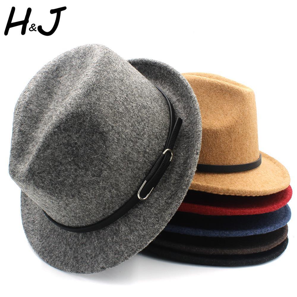 Classico100% Homburg Women Men Fedora Hat For Winter Autumn Elegant ... 24bc8f70b564