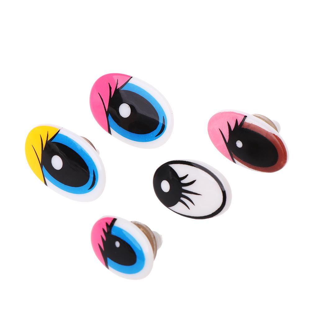 50pcs Plastic Lovely Animal Doll Teddy Puppet Eyes Hand DIY Craft Making Sewing