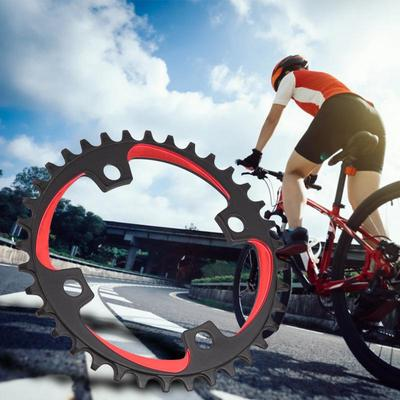 Aluminum 104mm BCD MTB Bike Single Narrow Wide Chainring 36T Chain Ring BLK