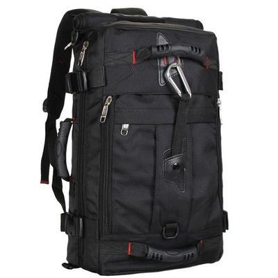 Solid Color Backpacks Oxford Cloth Big Waterproof Outdoor Travel Sports Knapsack