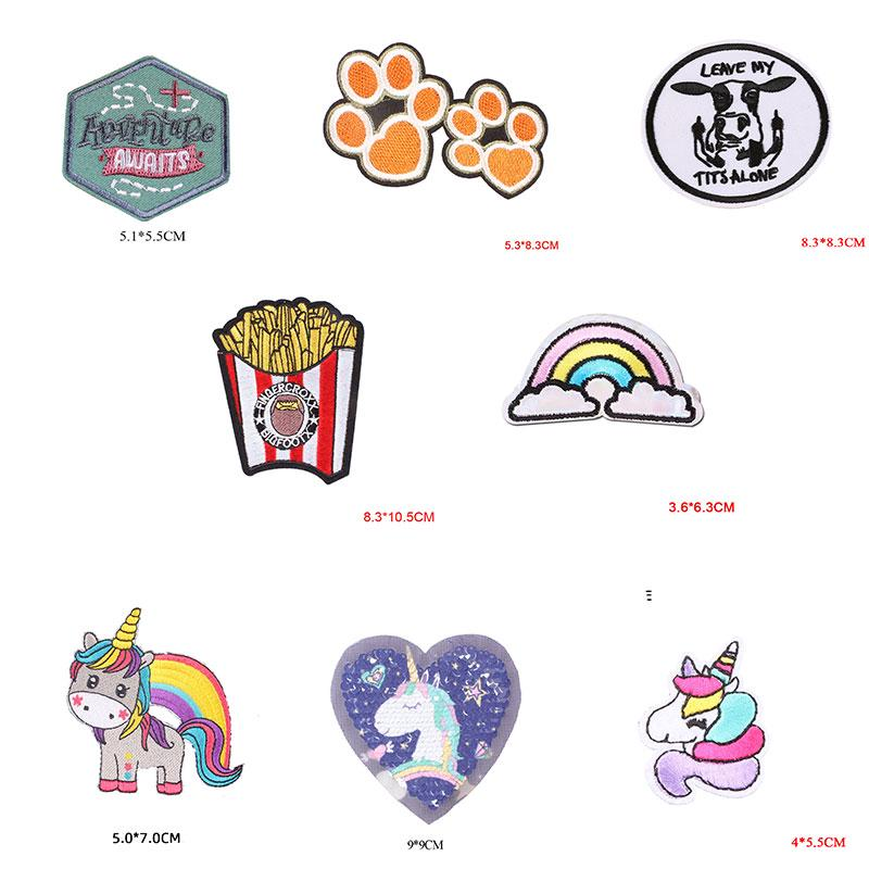 Cute Princess Unicorn Horse Fantasy Cartoon Patch Clothes Bag T-Shirt Jeans Biker Badge Applique Iron onSew On Patch Choose The Number