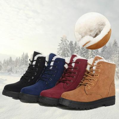 mejor selección c913d adf15 Women Snow Boots Casual Warm Flat Winter Boots Outdoors Non-slip Shoes Plus  Size