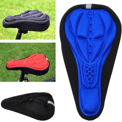 3D Cycling Bicycle Bike Silicone Saddle Seat Cover Silica Gel Cushion Soft Pad
