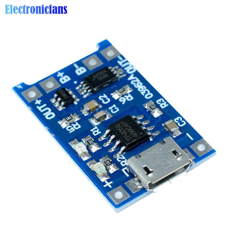 2//5//10PCS TP4056 5V 1A Mini USB 18650 Lithium Battery Charger Board Module