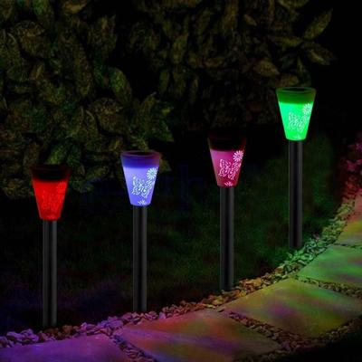 Solar Color-changing LED Outdoor Waterproof Lamp Power Yard Garden Light Voguish