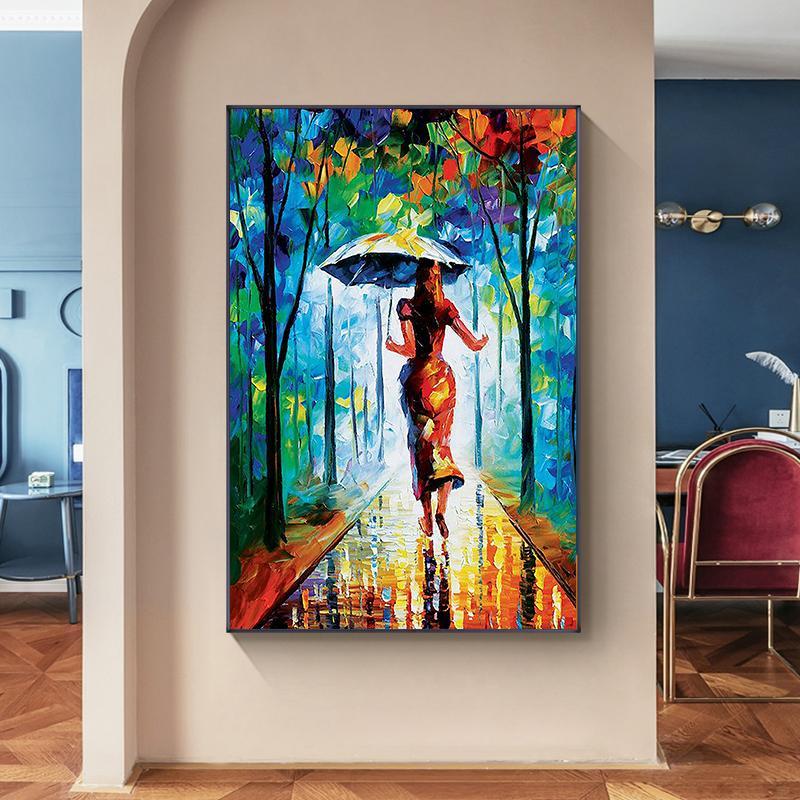 Landscape Oil Painting Modern Art, Modern Art Living Room