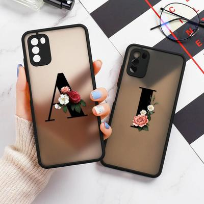 Camera Lens Protection Cases For Redmi 9C Note9 9T 9A iPhone 11 Cover for Mi 10T Lite 9T Xiaomi Poco X3 M3 iPhone7 Cases 26 Letters Phone Bumper