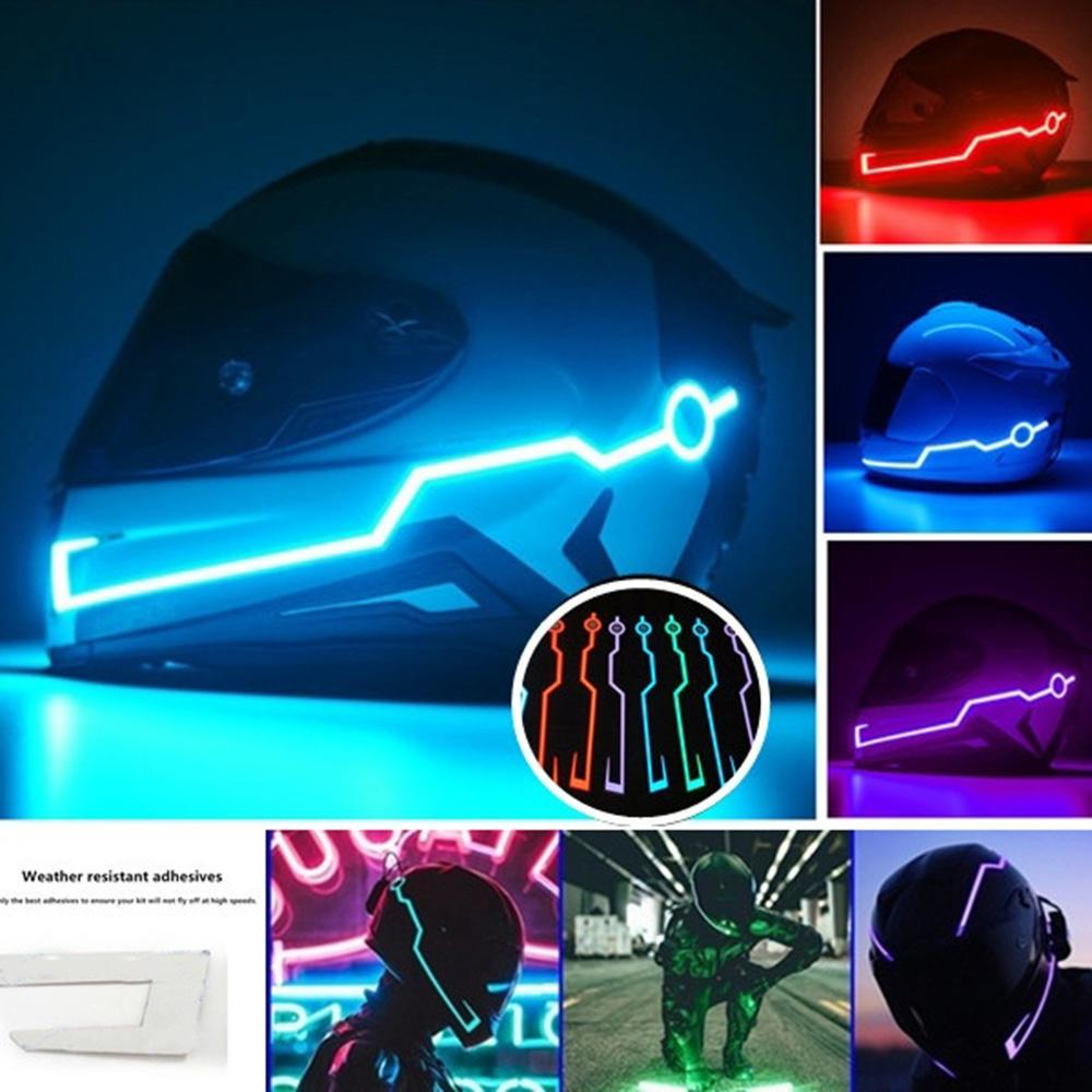 Motorcycle Helmet Light Reflector Sticker Lamp Riding Signal Waterproof with Flashing Led Red Light Film for Motorcycle