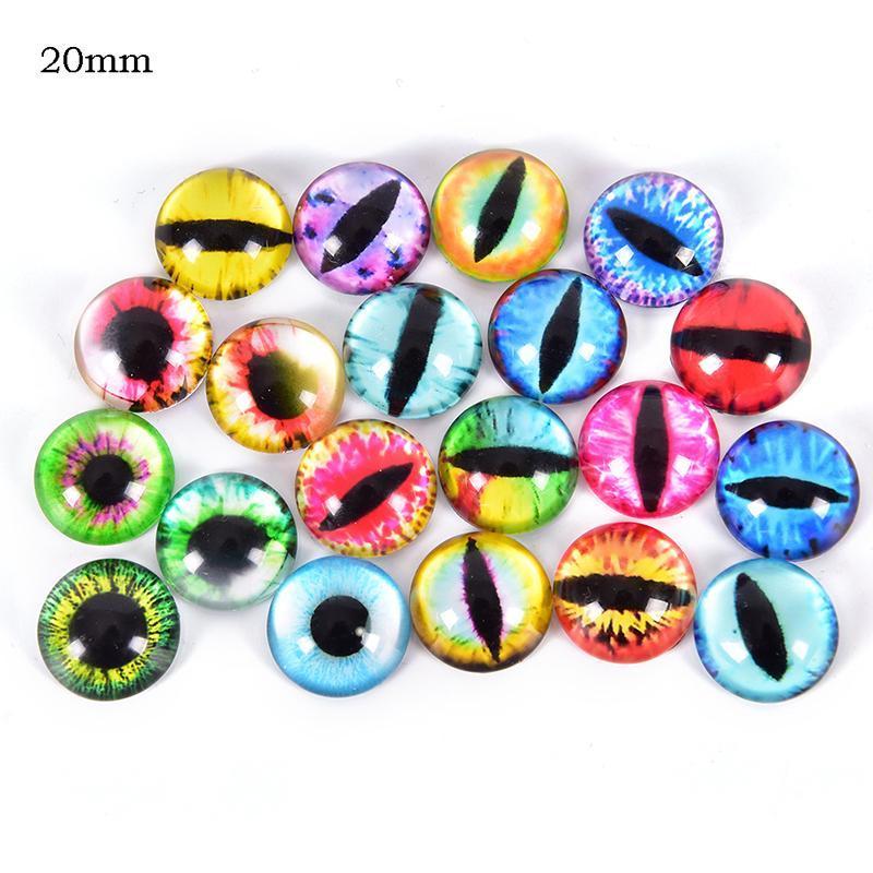10 pcs Plastic Cute Eyeballs Mixed Doll Eyes Animal Pupils DIY Craft Accessories