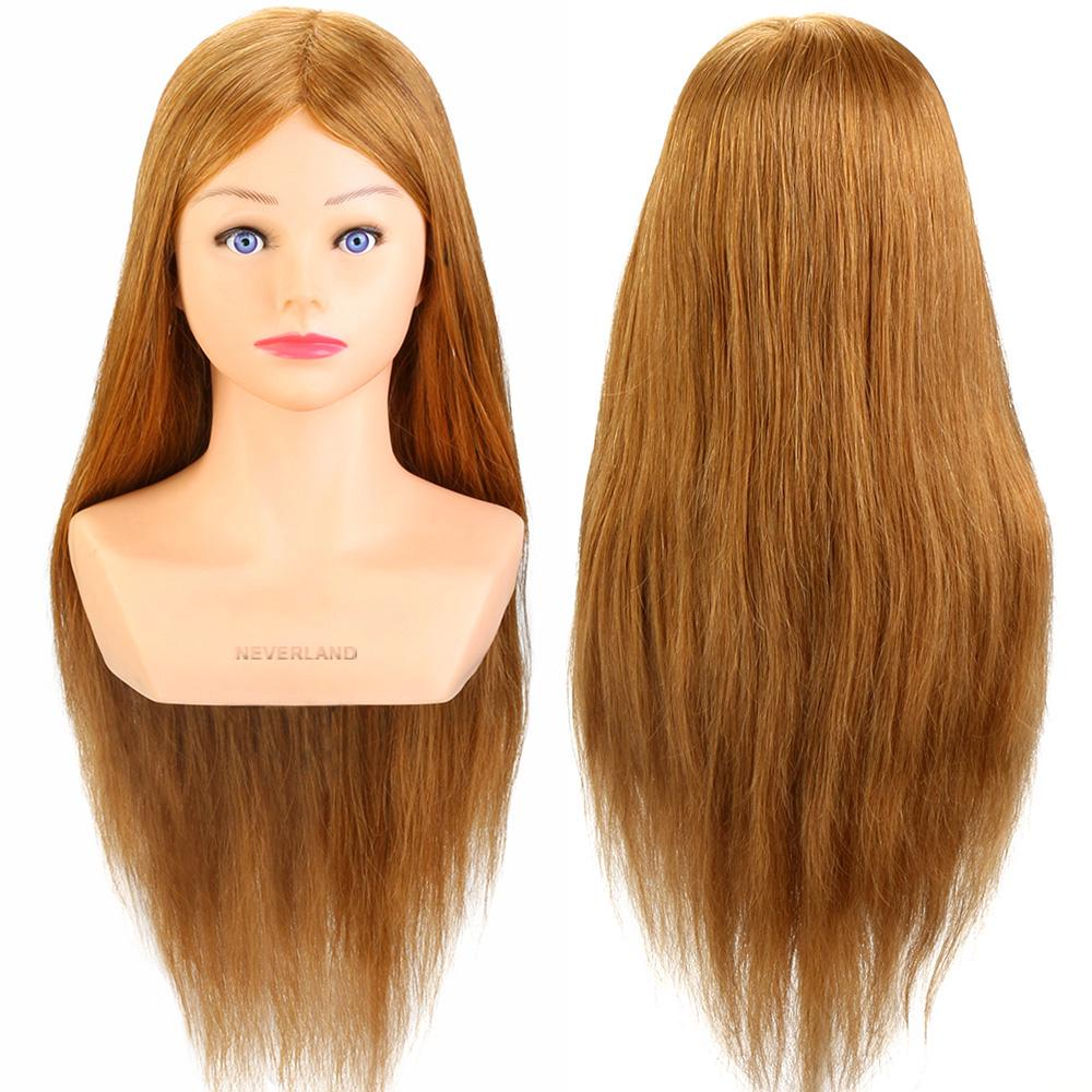 Neverland Hairdressing 24 100 Real Human Hair Training Head With Shoulder Golden Hair Blue Eye Buy From 97 On Joom E Commerce Platform