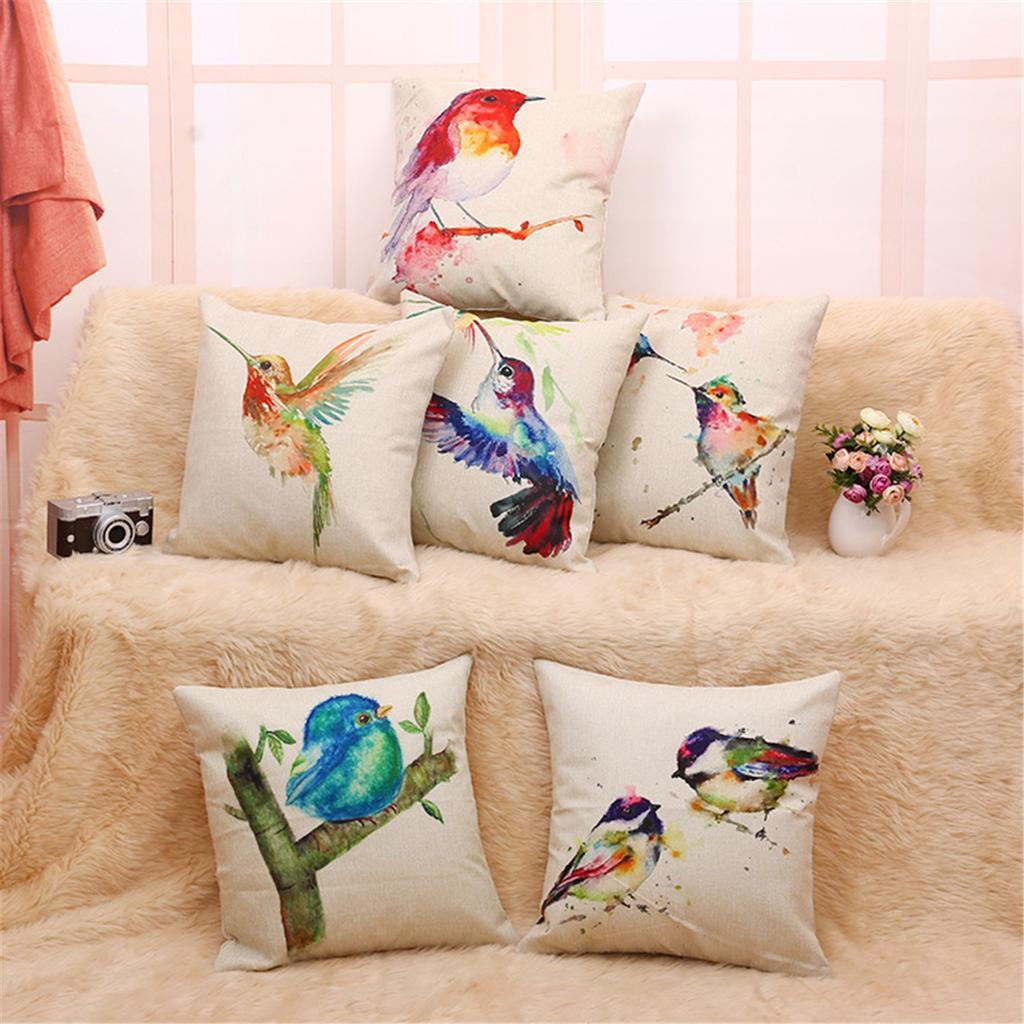 "Home Bed Decor 17/""x17/"" Plain Linen Cushion Cover"