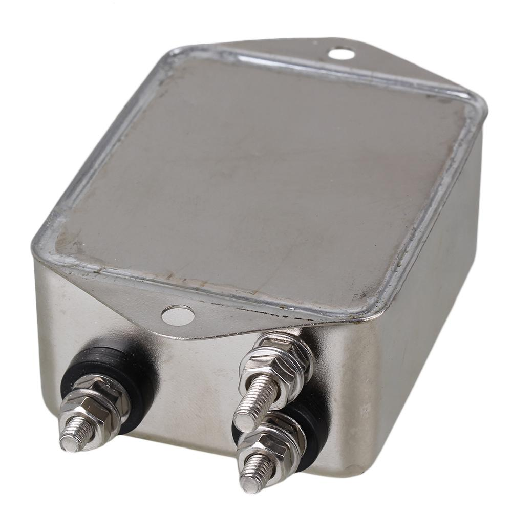 Details about  /Screw-type Bipolar Power Line EMI Filter Silver and Black  AC115-250V 20A