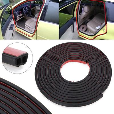 Universal 5m Rubber B-Type Car Exterior Anti-dust Noise Seal Strip