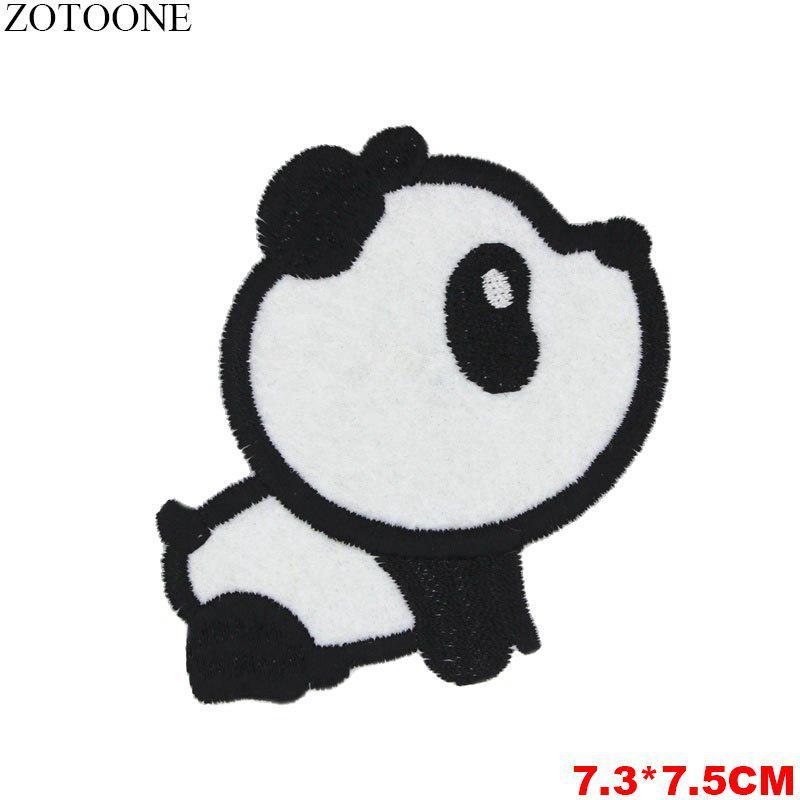 Panda En Árbol Lindo pandas de hierro en apliques Parche