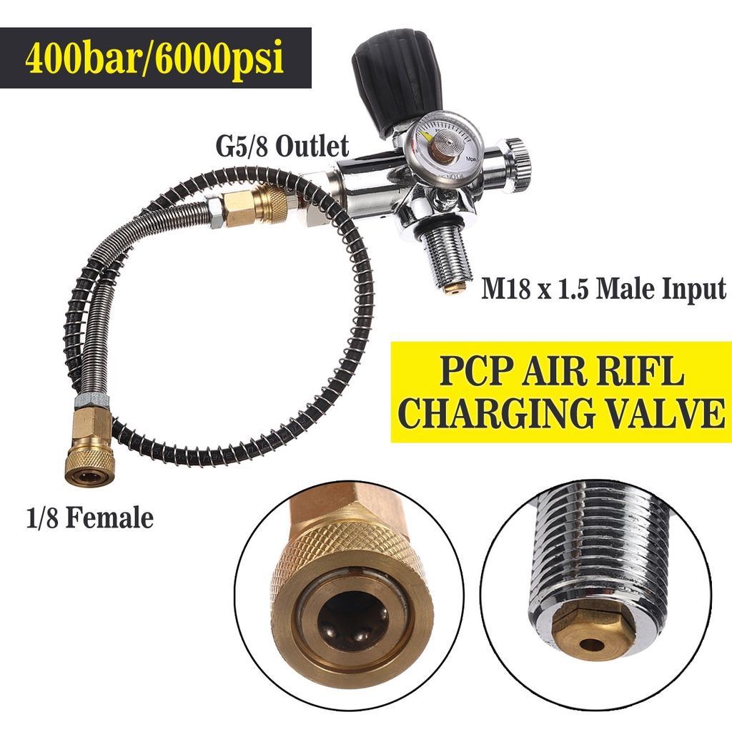 PCP Pneumatics High Pressure Hose Air Filling Hose With Spring Wrapped 1//8 NPT
