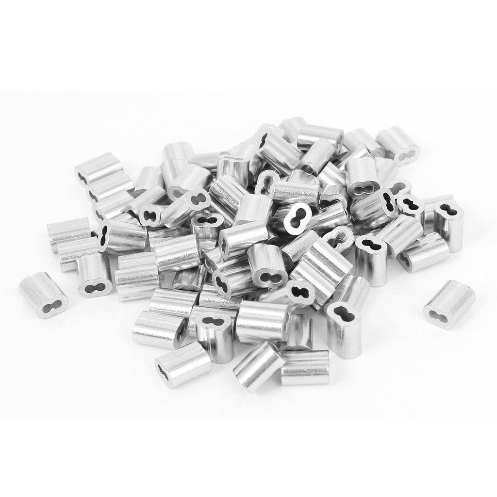 1/16-Zoll Drahtseil Aluminium Hülsen Clip Armaturen Kabel crimpen ...