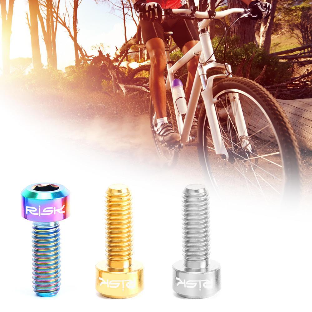 Hexagon M5 MTB Bike Water Bottle Cage Holder Screws Bolts Stainless Steel Screw