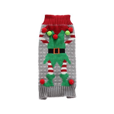 Fashionable Pet Christmas Warm Sweater Xmas Parties Costume