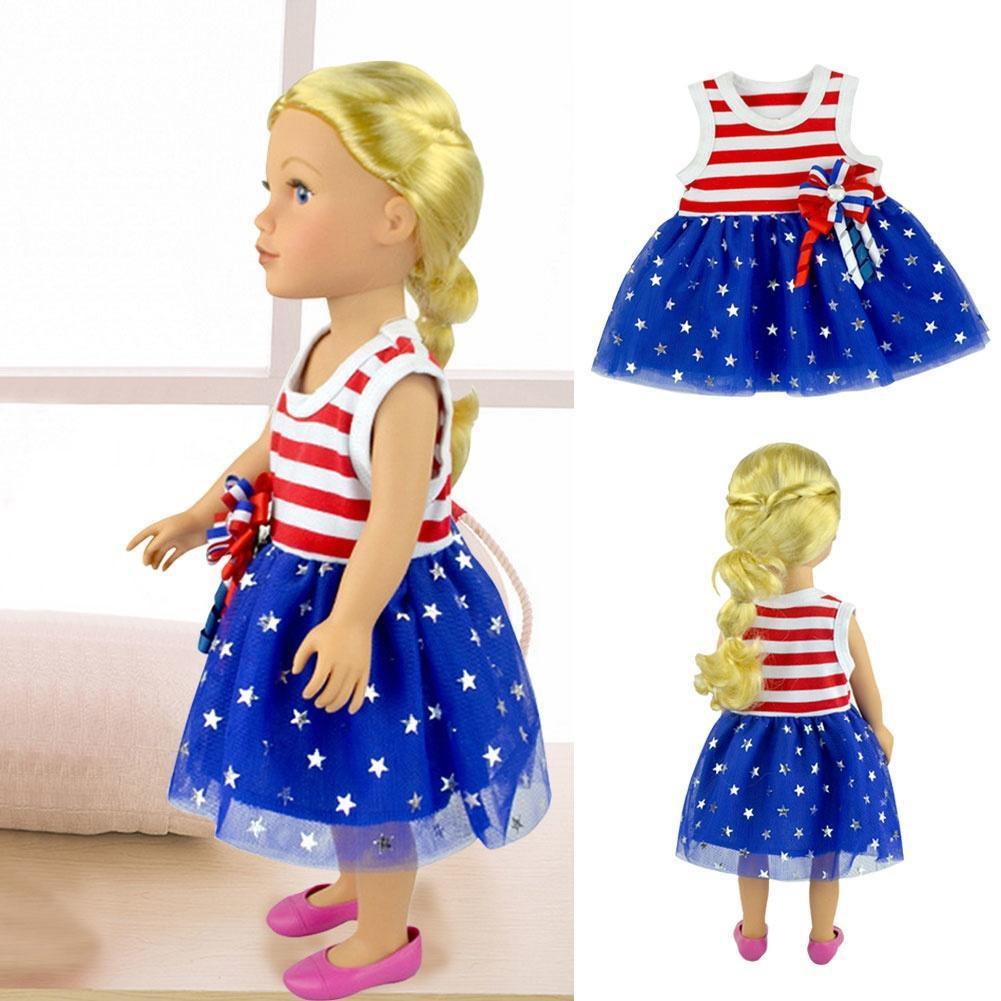 Süße 18-Zoll-amerikanische Mädchen Puppe Kleid Kleidung – zu den ...