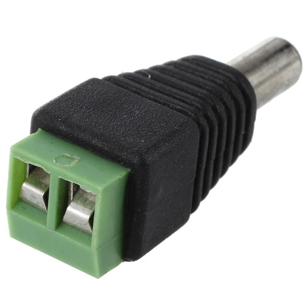 DC Stecker Schraubklemmen Adapter für CCTV 5 Paar Schraubstecker DC Buchse