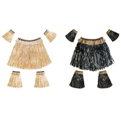 7d77ef17 5 szt hawajska spódnica z trawy Garnitur z elastycznym rękawem Pokrowiec na  spódnicę z trawy dla kobiet