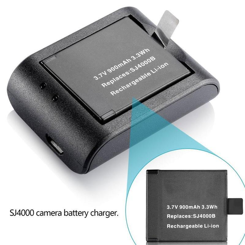 Charger For Gitup Git1//Git2//SJCAM//SJ4000//SJ5000 Sports Cam 2Pcs 950mAh Battery