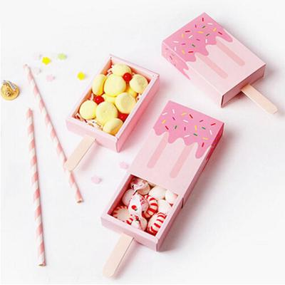 Candy Box Ice Cream Shape Birthday Wedding Baby Shower Plastic Gifts Cone Boxes