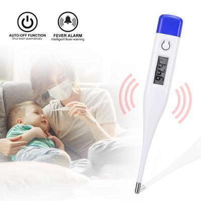 Digital Thermometer Beeper Alarm Mercury Free Auto Shut-off Flexible Tip Design