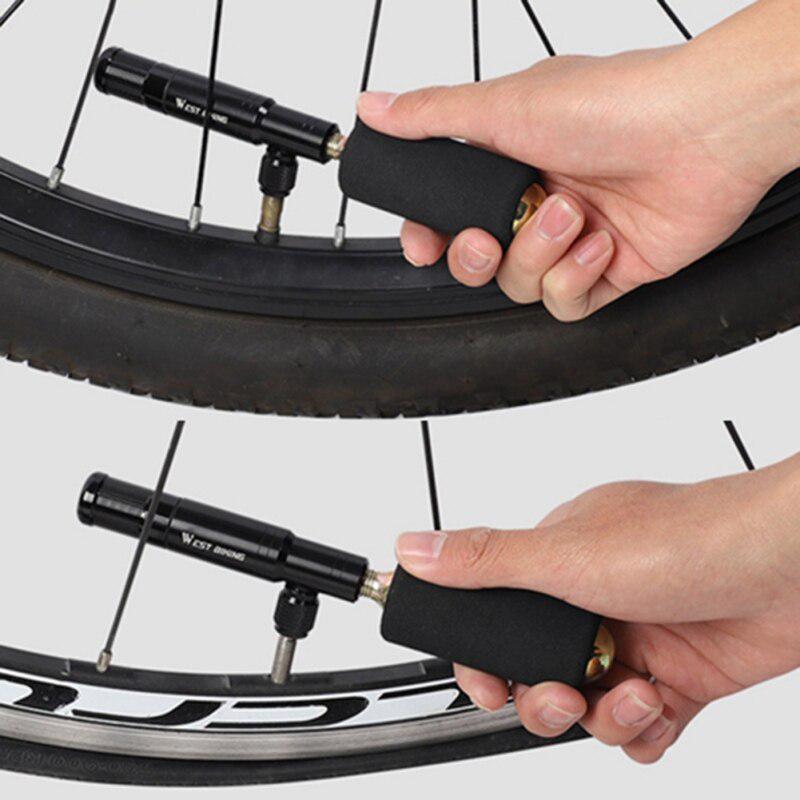 Portable Bicycle Tire Inflator Hand Pump MTB Bike Air Pump Mini Tire Repair Tool