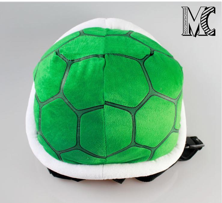 Super Mario Bros Green Troopa Turtle Tortoise Shell Plush Doll Backpack Bag