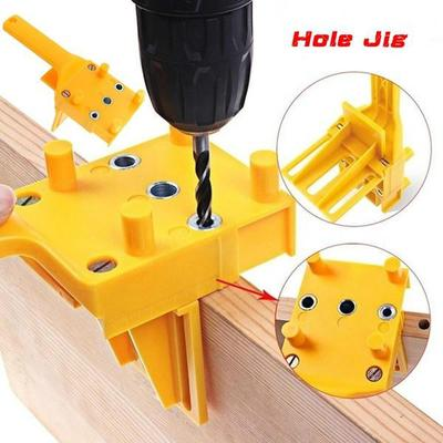 Handheld Woodworking Dowel Jig Doweling Hole Drill Guide Tool Fits 6 8 10mm Drill