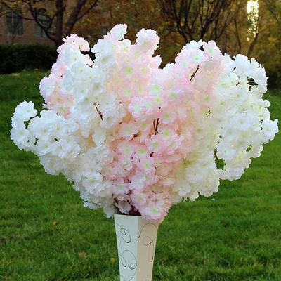 Wedding Fake Flower Simulation Bouquet Cherry Blossom Floral Home Garden Decor Buy At A Low Prices On Joom E Commerce Platform