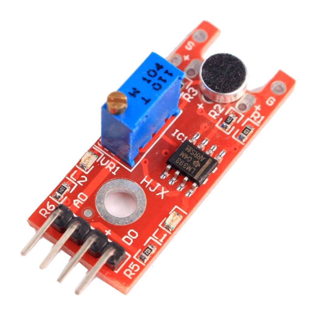 Microphone Voice Sound Sensor Module With Lm393 Main Chip For Alarm Circuit Battery Charger Picture Of Good Electronic 1 3