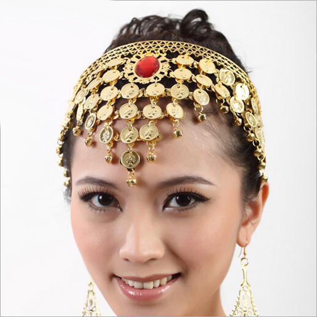 Belly Dance Dancing Headdress Head Headband Jewelry Tassel dress up Party