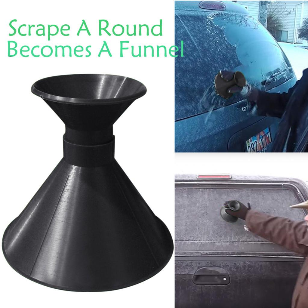 Cone Shaped Car Windshield Ice Scraper Tool Outdoor Round Funnel Remove Snow Kit