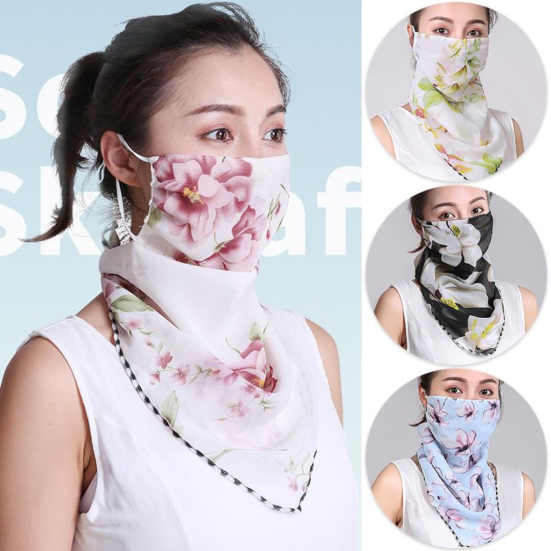 1Pc Sunscreen Face Cover Scarf Summer Breathable Dustproof Cycling Neck Gaiter