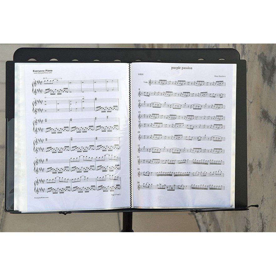 80 Sheets A4 Music Book Folders Piano Insert-type Music Supplies File Storage ~g Mappen & Hefter