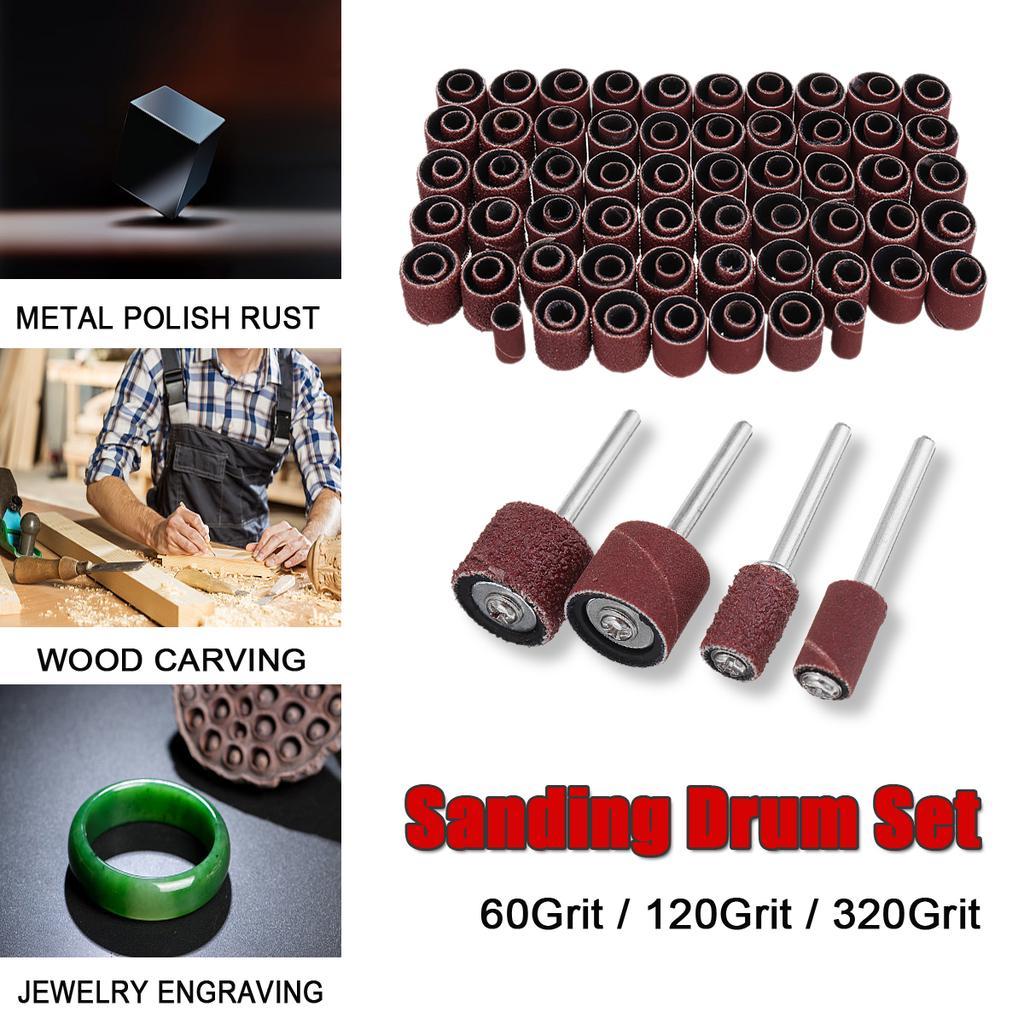 "Mini Abrasive Wire Polishing Pen Brush Rotary Tool for Wood 1//4/"" Shank 120 Grit"
