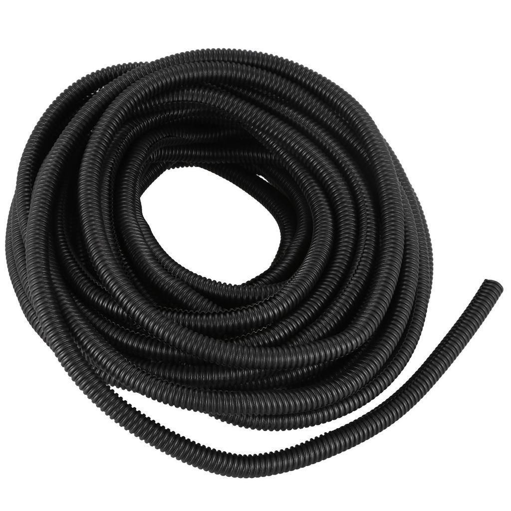 "50 Ft 3//8/"" Split Wire Loom Conduit Polyethylene Tubing Black Sleeve Tube"