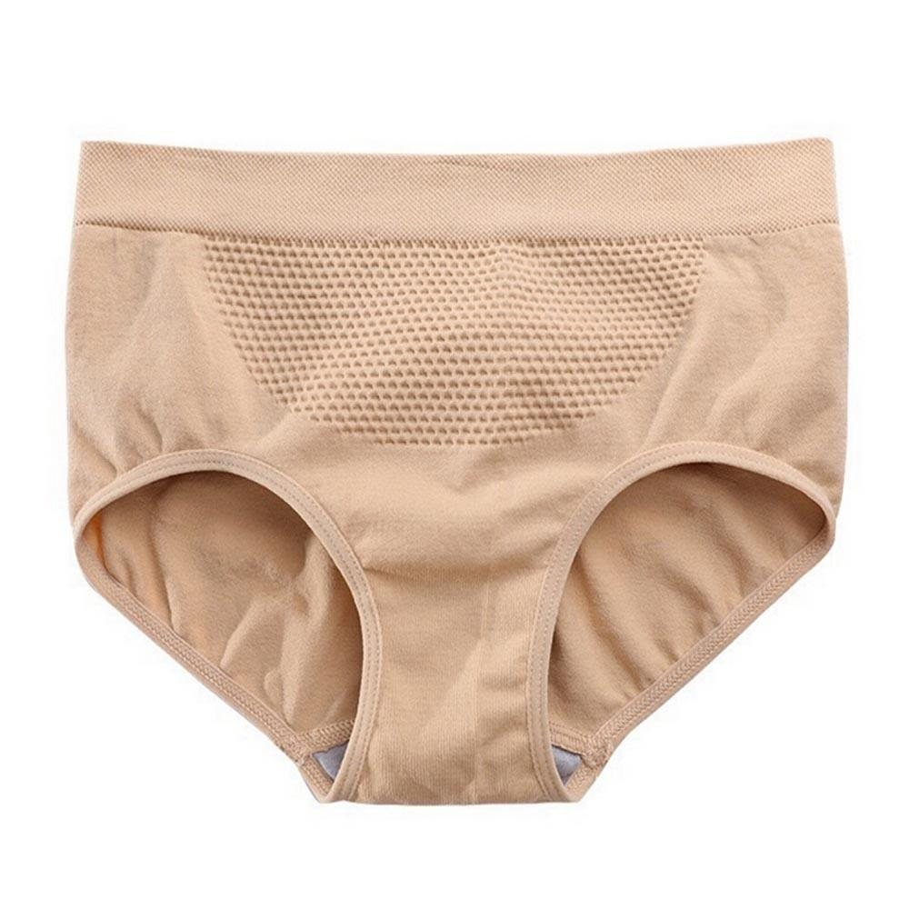 1xWomen/'s 3D Seamless Honeycomb Warm Palace Panties Inner Hips Warm Waist Briefs