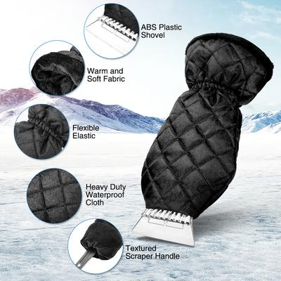 Waterproof Warm Car Ice Scraper Glove Snow Shovel Mitt Removal Window  Windshield-buy at a low prices on Joom e-commerce platform