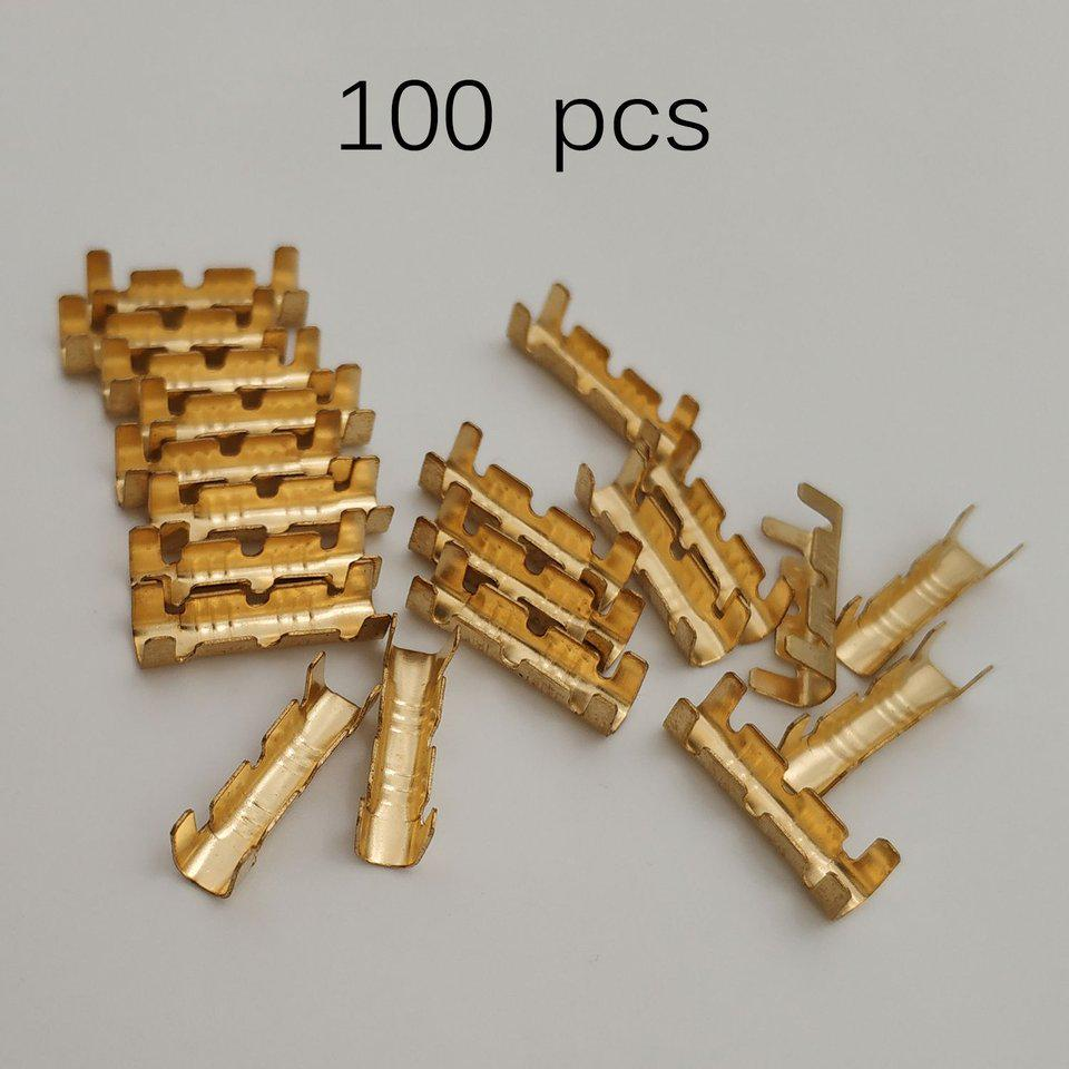 100PCS U Shape Docking Connector Quick Connect Terminal For Line Pressing Button