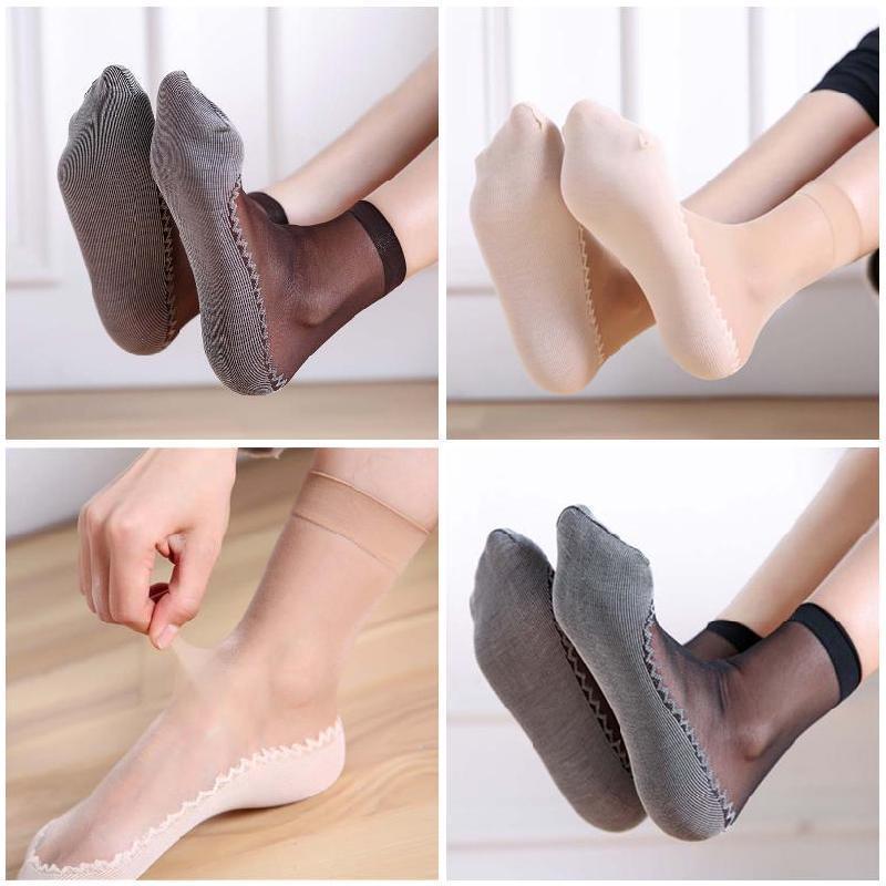 丝袜 女士棉底短丝袜防滑底丝袜 包芯丝袜厂家直销 网店爆款批发